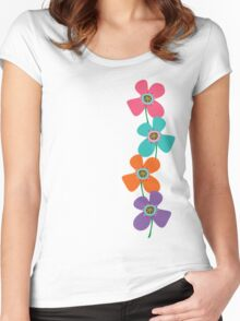 Balancing Fun Daisies Pop Women's Fitted Scoop T-Shirt