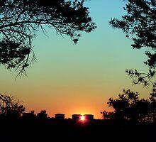 Framed Sunset by HELUA