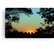 Framed Sunset Canvas Print