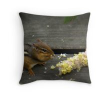 """Chippy Shares My Cookout"" Throw Pillow"