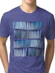 Blue Ripple Abstract Tri-blend T-Shirt
