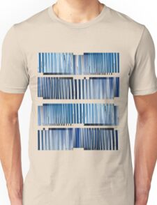 Blue Ripple Abstract Unisex T-Shirt