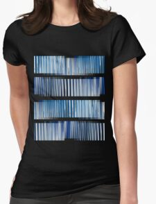 Blue Ripple Abstract Womens Fitted T-Shirt