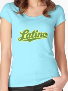 GenuineTee - Latino (green/yellow) Women's Fitted Scoop T-Shirt