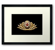 USSR army officer badge Framed Print