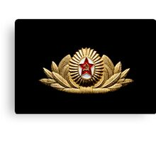 USSR army officer badge Canvas Print