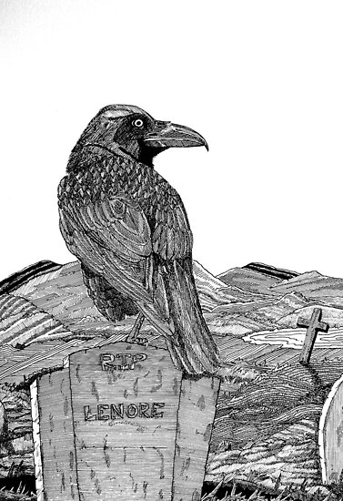 217 - 'SORROW FOR THE LOST LENORE' - DAVE EDWARDS - INK - 2008 by BLYTHART