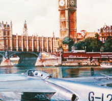 Flying Boat on the Thames Sticker
