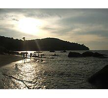 Penang beach at sunset Photographic Print