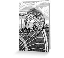 209 - IGUANA DRAGON KEEPS WATCH - DAVE EDWARDS - INK - 2007 Greeting Card