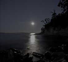 Moonlit Beach by Ben Rae