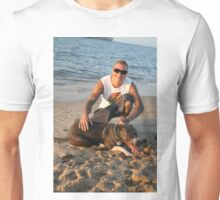 14. Aaron & his American Staffy Unisex T-Shirt