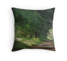 Another morning walk in the forest Throw Pillow