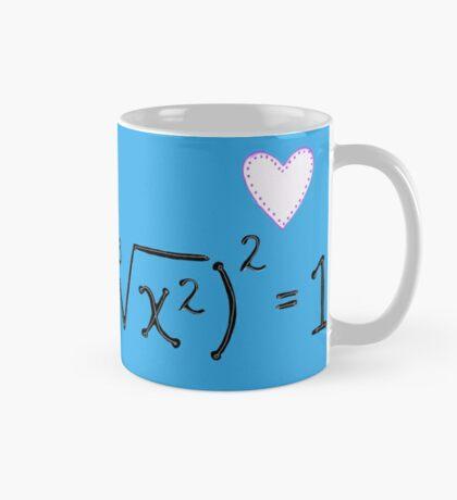 Math heart (blue) Mug