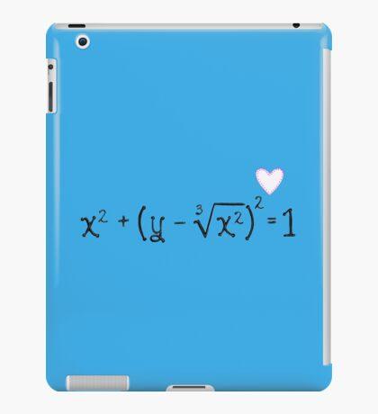 Math heart (blue) iPad Case/Skin