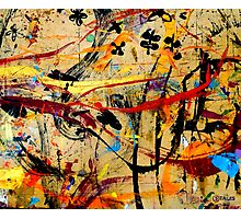 03 Paint in Abstract on Work Table  Photographic Print