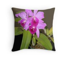 Pink Orchid.   Throw Pillow