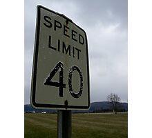 40 mph Photographic Print