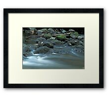 Water, Stones & Moss Framed Print