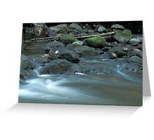 Water, Stones & Moss Greeting Card