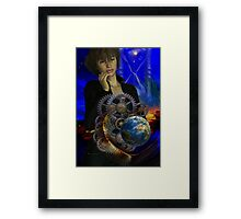 watching the wheels go round Framed Print