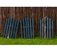 Green Adirondack Chair Backs Photographic Print