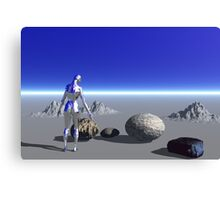 Android on the Blue Planet Canvas Print