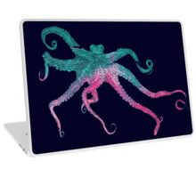 Vector illustration with octopus Laptop Skin