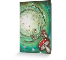 Mushroom Time Travel Greeting Card
