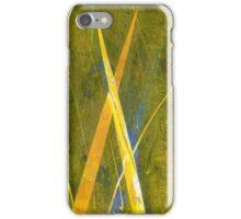 Native Grasslands 3A Restoring Biodiversity 1 of 3 Acrylic Monoprint iPhone Case/Skin