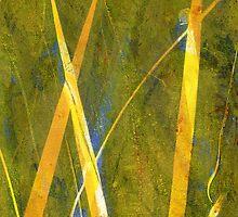 Native Grasslands 3A Restoring Biodiversity 1 of 3 Acrylic Monoprint by Heatherian