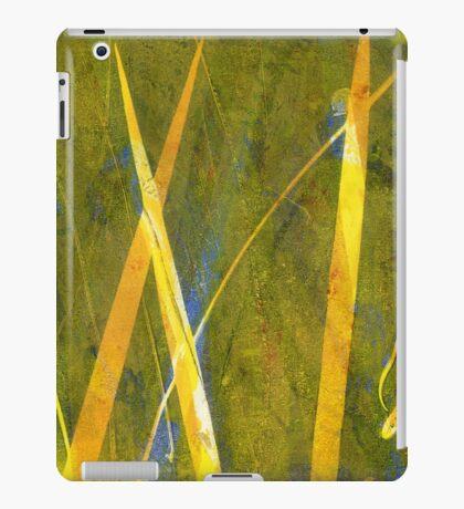 Native Grasslands 3A Restoring Biodiversity 1 of 3 Acrylic Monoprint iPad Case/Skin