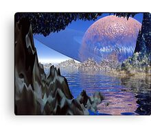 Planet Rising Canvas Print