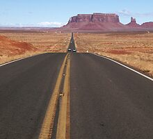 Long Straight Road by Chris Parker