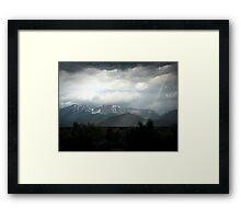 Thunderstorm over the Sierra Framed Print