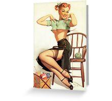 Pin Up Sally Greeting Card