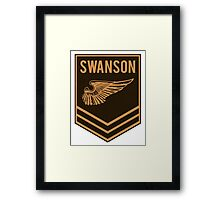 Parks and Recreation - Swanson Ranger Club Framed Print