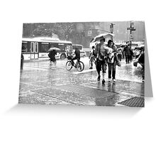 Rain down Greeting Card