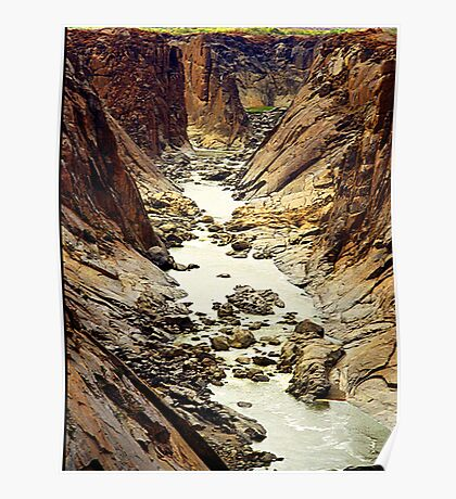 Oranje River, flowing through Augrabies National Park, RSA Poster