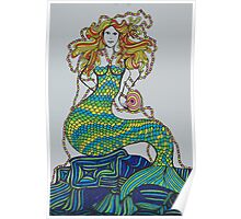 rainbow mermaid Poster