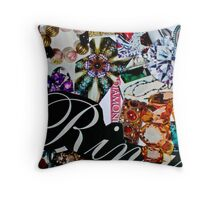 jewelry collage Throw Pillow