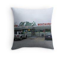 Al Mac's Diner, Fall River, MA Throw Pillow