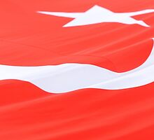 Turkish flag abstract by stuwdamdorp