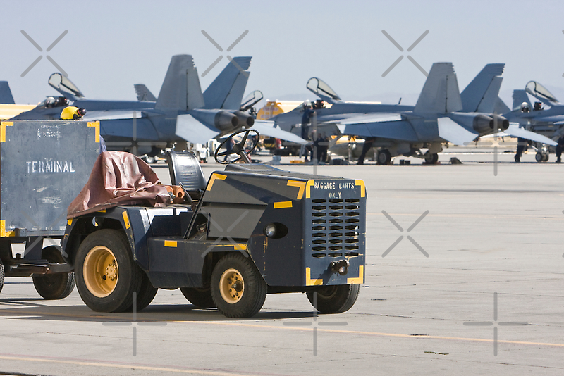 A Military Baggage Truck Waiting for the Next Arrivals by Buckwhite