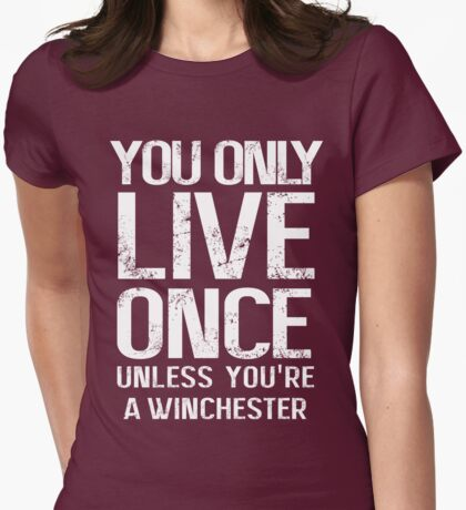 YOU ONLY LIVE SEVERAL TIMES Womens Fitted T-Shirt