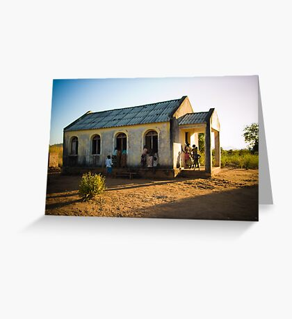 First Church of Niassa Province, Mozambique Greeting Card