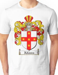 Adams Coat of Arms T-Shirt / Adams Family Crest T-Shirt Unisex T-Shirt