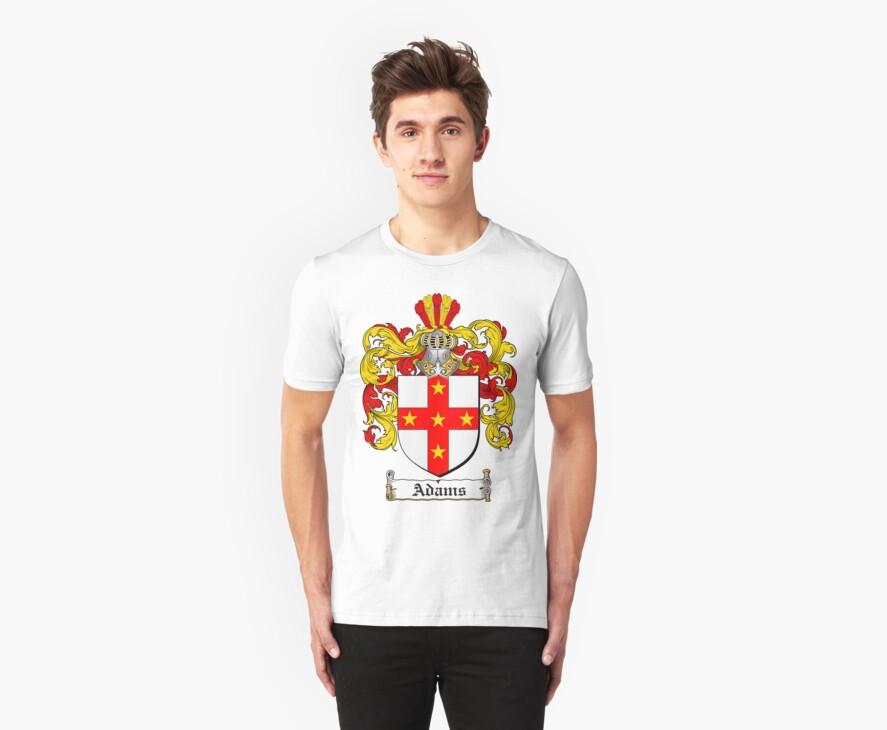 Adams Coat of Arms T-Shirt / Adams Family Crest T-Shirt by coatofarms