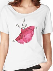 ballerina figure, watercolor Women's Relaxed Fit T-Shirt