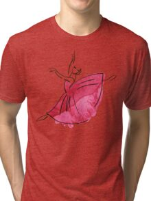ballerina figure, watercolor Tri-blend T-Shirt